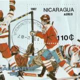 Colita timbre Nicaragua 1987, Stampilat