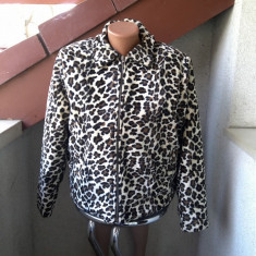 GEACA SISLEY BLANA, ANIMAL PRINT DUBLATA MARIME XL MADE IN ITALY - Geaca dama Sisley, Culoare: Din imagine