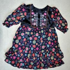 Rochita eleganta de voal, marca Matalan, fetite 12-18 luni, Culoare: Multicolor