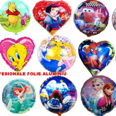 SET 10 BALOANE PROFESIONALE DIN FOLIE ALUMINIU CU PERSONAJELE DIN DESENE ANIMATE, MIKEY MOUSE, MINNIE, SPONGE, PLUSICA, SPIDERMAN, ETC... - Baloane copii Altele