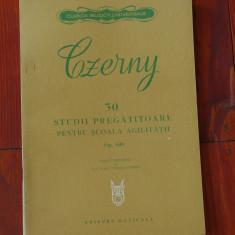 Partitura --- Czerny - 30 studii pregatitoare pentru scoala agilitatii op 849 - Ed. Muzicala 1979 - 58 pagini
