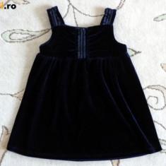 Tunica tip rochita catifea, marca FF kids, fetite 2-3 ani, Culoare: Bleumarin