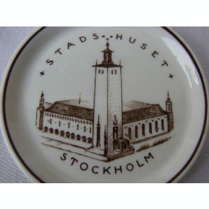 Impresionanta farfurioara din portelan suedez Gustavsberg Stads Huset ROTARY KLUBB Stockholms 1926 - 1936