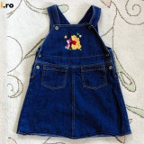 Sarafan de blugi albastru cu Pooh, marca Disney, fetite 12-18 luni