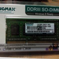 Memorie laptop Kingmax DDR3 1333mhz 2gb - Memorie RAM laptop
