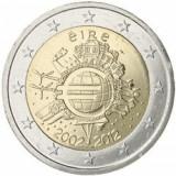 IRLANDA 2 euro comemorativa 2012 TYE-10ani euro, UNC, Europa, Cupru-Nichel