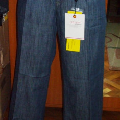 NOU Blugi lungi albastri evazati largi pantaloni VERO MODA DENIM W 28 - Blugi dama Vero Moda, Culoare: Bleumarin, Normala