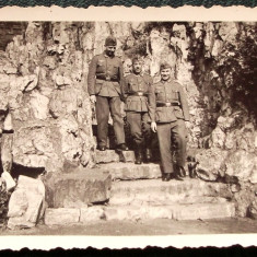FOTOGRAFIE GERMANIA NAZISTA MILITARI GERMANI IN UNIFORMA NR. 18 - 9 x 6 cm ** - Fotografie veche