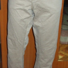 Pantaloni barbati Gap bej drepti tip blugi DOBBER SINCE 1972 marimea 32