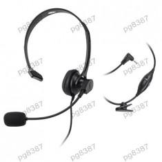 Casca audio mono, cu microfon, jack 2, 5mm, cu control volum, Quer - 401039 - Casca PC