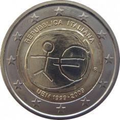 ITALIA moneda 2 euro comemorativa 2009 EMU-10 ani Uniune, UNC