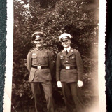 FOTOGRAFIE GERMANIA NAZISTA MILITARI IN UNIFORMA 1 AVIATIE NR 4, 11, 5 x 7 cm ** - Fotografie veche