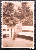 FOTOGRAFIE GERMANIA NAZISTA MILITAR GERMAN UNIFORMA EGHILET NR 14- 8,5 x 6 cm **