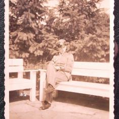 FOTOGRAFIE GERMANIA NAZISTA MILITAR GERMAN UNIFORMA EGHILET NR 14- 8, 5 x 6 cm ** - Fotografie veche