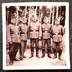FOTOGRAFIE GERMANIA NAZISTA MILITARI GERMANI IN UNIFORMA NR 21, 6, 5 x 6, 5 cm ** - Fotografie veche