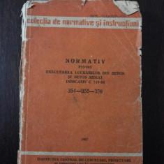 NORMATIV PENTRU EXECUTAREA LUCRARILOR DIN BETON SI BETON ARMAT INDICATIV C 140-86 - 354-355-356 - Institutul de cercetari in constructii -- 1987, 269p - Carte Legislatie