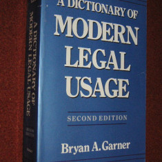 Dictionar juridic englez explicativ (A dictionary of modern legal usage ) - Bryan A. Garner (Oxford)