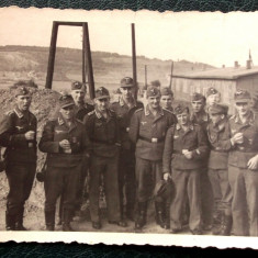 FOTOGRAFIE GERMANIA NAZISTA MILITARI GERMANI IN UNIFORMA NR. 12 - 10 x 7 cm ** - Fotografie veche