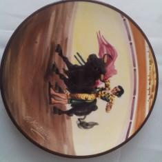 "' Toreadorul"" - farfurie DECORATIVA (ceramica pictata Spania)"