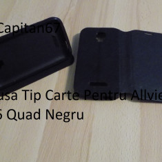 Husa Tip Carte Pentru Allview c6 Quad Negru - Husa Telefon Allview, Piele Ecologica
