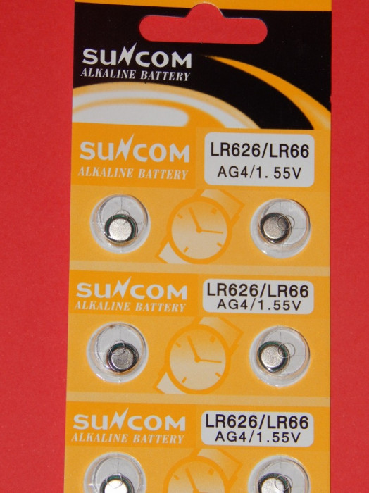 Baterii AG4 - LR626 / LR66 / 1.55 V