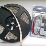 Banda led 5630 alb + mini variator cu telecomanda wireless