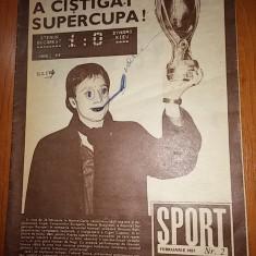 Revista sport februarie 1987 ( steaua a castigat supercupa europei )