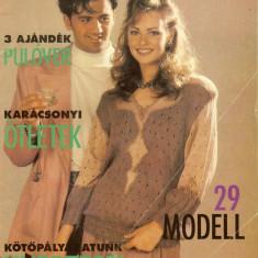 Revista tricotaje FURGE UJJAK, nr. 12/1993, completa, limba maghiara - Revista moda