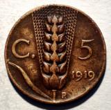 A.017 ITALIA VITTORIO EMANUELE III 5 CENTESIMI 1919
