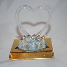 Marturii nunta/botez Porumbei cristal in oglinda, CEL MAI MIC PRET DE PE PIATA, marturie, porumbel sticla