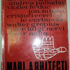 MARI ARHITECTI 1971 - Carte Arhitectura