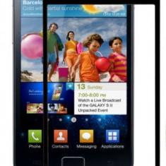 Sticla Display Fata Samsung Galaxy S2 i9100 NEGRU + folie ecran