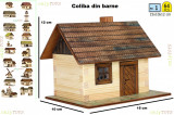 Set constructie casuta  casute traditionale din lemn COLIBA log  walachia lego