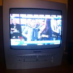 Televizor Hitachi cu dvd player incorporat -stare impecabila- PRET EXCELENT! - Televizor CRT
