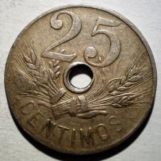 1.815 SPANIA 25 CENTIMOS 1927, Europa, Cupru-Nichel
