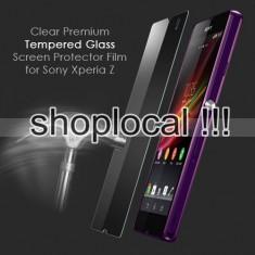 Folie sticla Sony Xperia Z securizata protectie antisoc dedicata subtire temperata/ Tempered Glass - Folie de protectie Sony, Anti zgariere