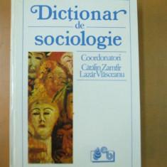 Dictionar sociologie Bucuresti 1993 Catalin Zamfir Lazar Vlasceanu