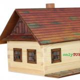 Casa traditionala din barne de lemn jucarie eco walachia log cotage lego wood