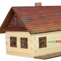 Casa traditionala din barne de lemn jucarie eco walachia log cotage lego wood - Set de constructie Walachia, 8-10 ani, Unisex