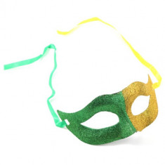 Masca Carnaval Foreplay Adult Venetiana Roleplay Mask Halloween Galben Verde, Marime: Marime universala, Culoare: Multicolor