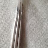 Pensule manichiura, set 3, pensule pictura unghii, unghii false, unghii gel - Model unghii