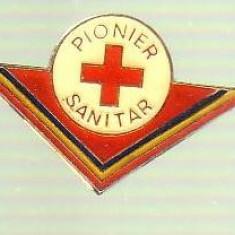 Insigna - Pionier SANITAR format mare, Romania de la 1950