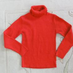 Pulover roling rosu cu fir auriu, marca TU, fete 9 ani/ 134 cm