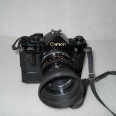 Vand CANON A-1 cu obiectiv si winder - Aparate Foto cu Film