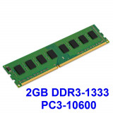 2GB DDR3-1333 PC3-10600 1333MHz , Memorie Desktop PC DDR3 Testata cu Memtest86+, DDR 3, 2 GB, Single channel