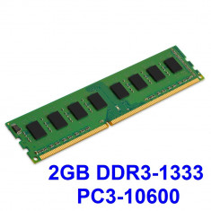 2GB DDR3-1333 PC3-10600 1333MHz , Memorie Desktop PC DDR3 Testata cu Memtest86+