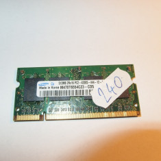 Memorie RAM laptop SODIMM DDR2 512MB Samsung ( DDR 2 512 MB notebook ) (240)