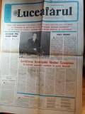 ziarul luceafarul 11 noiembrie 1989 ( cuvantarea lui ceausescu )