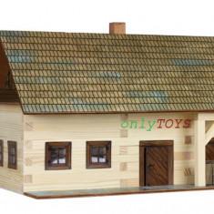 Set casuta din barne lemn Casa Taraneasca Gospodarie eco walachia homestead lego - Set de constructie Walachia, 8-10 ani, Unisex
