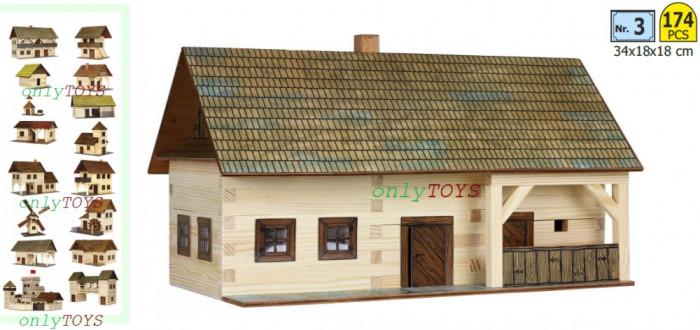 Set casuta din barne lemn Casa Taraneasca Gospodarie eco walachia homestead lego
